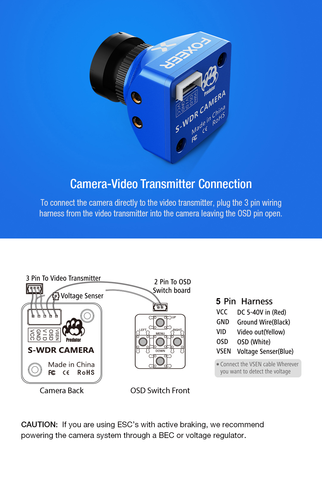 Foxeer Predator Standard V2 1000tvl Fpv Camera Super Wdr