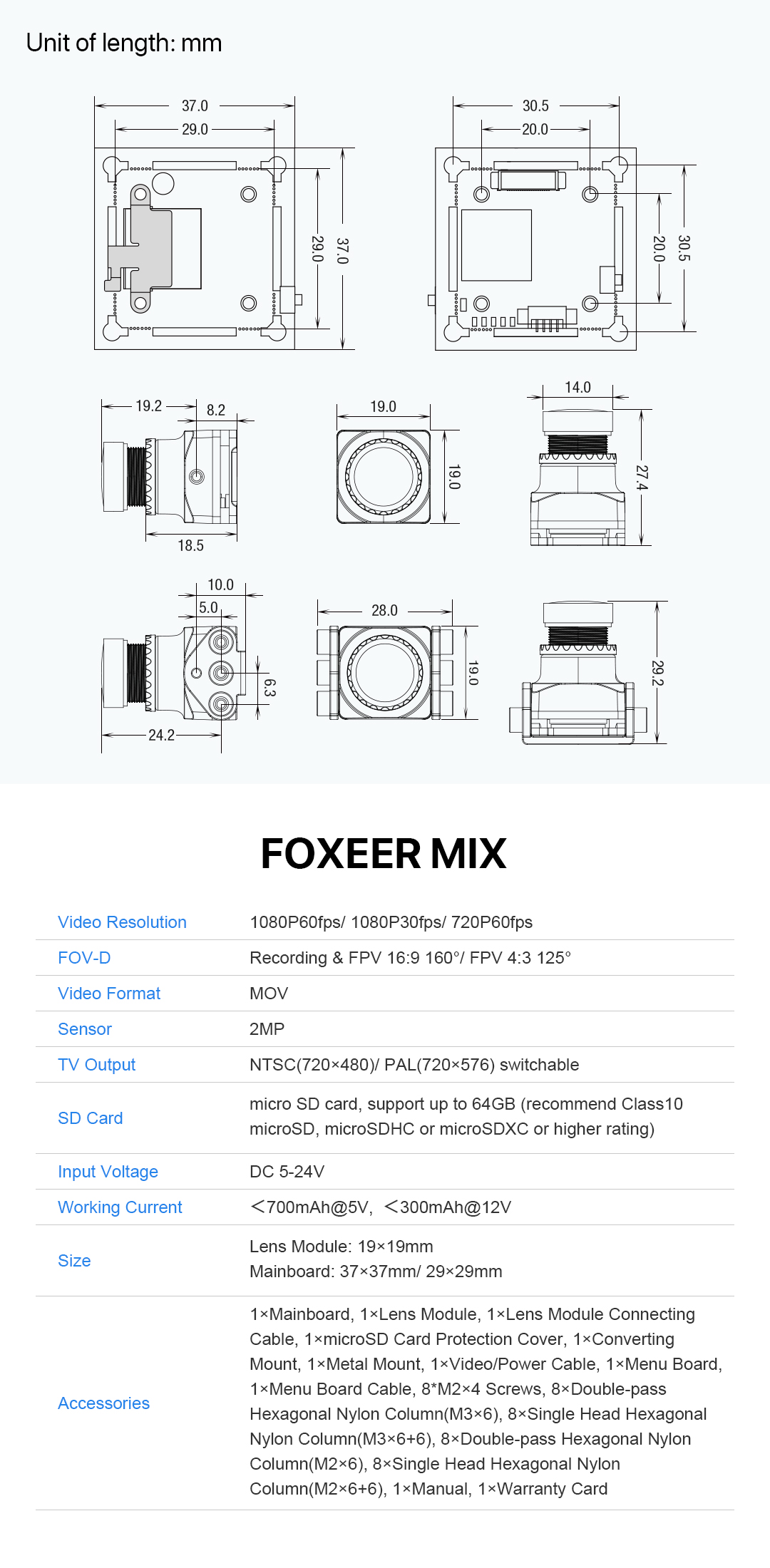 FLASH SALE! Foxeer Mix 1080p 60fps Super WDR Mini HD FPV