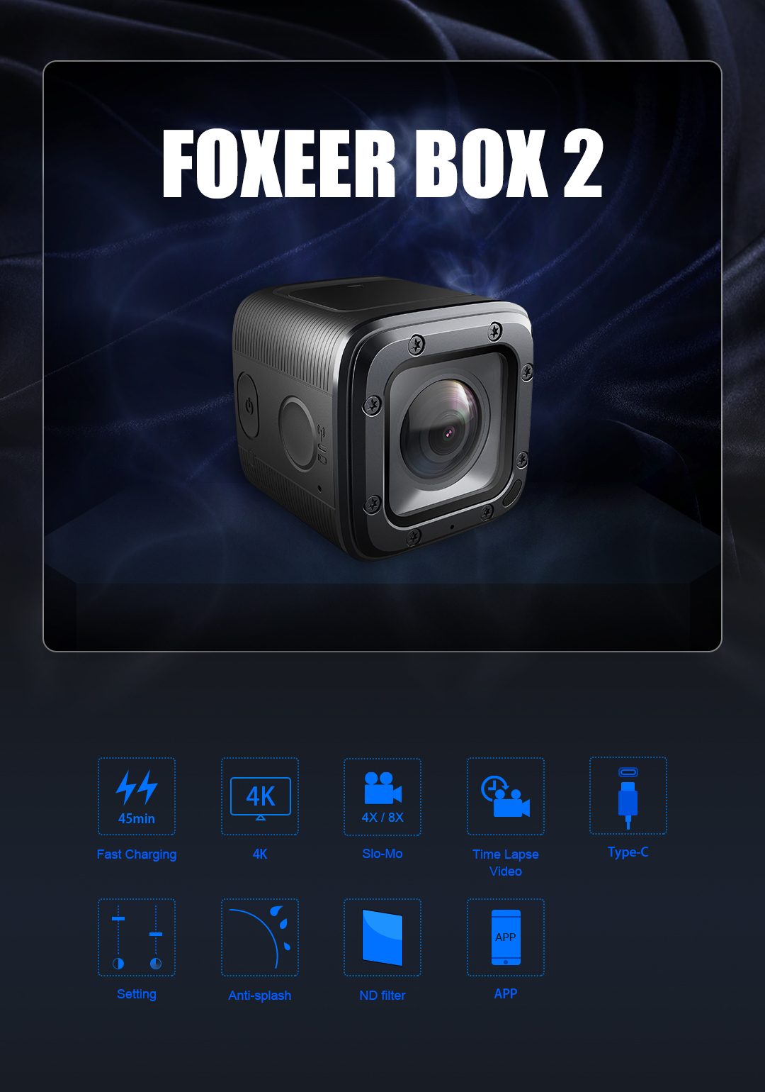 China High quality Foxeer BOX 2 4K HD Action Camera