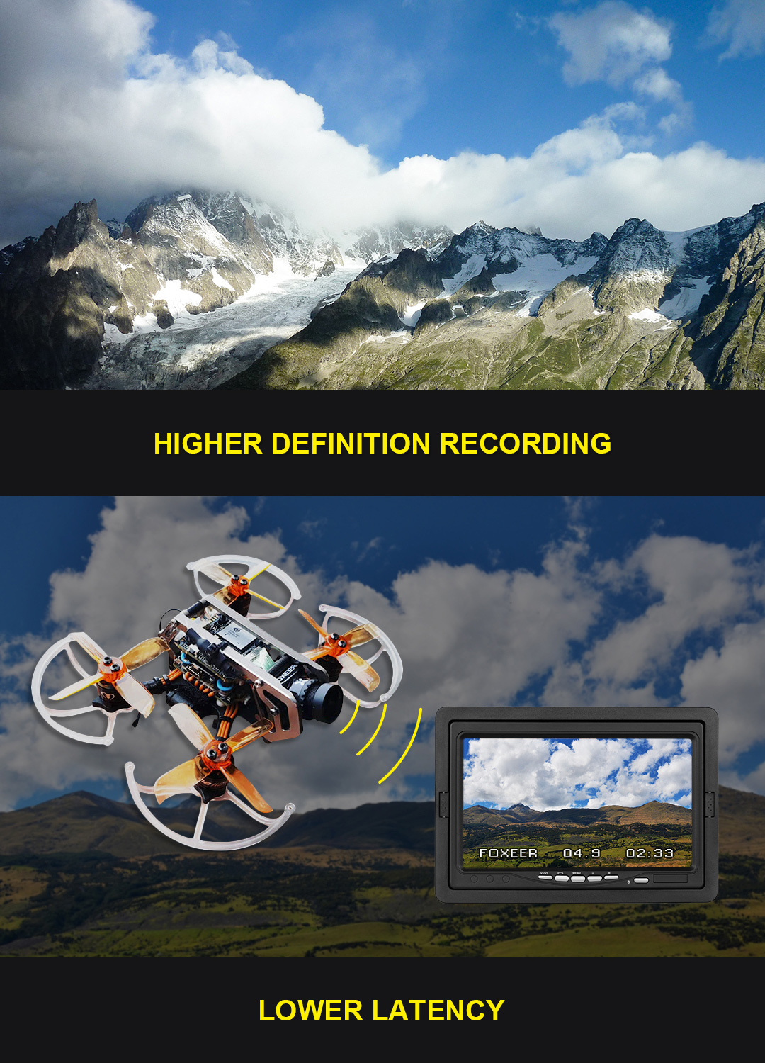 Foxeer MIX 2 1080P 60fps HD Action FPV Low latency